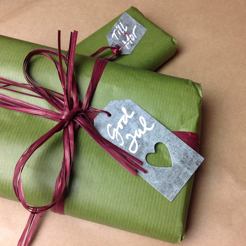 Juletikett   juladress i zink använd år efter år!