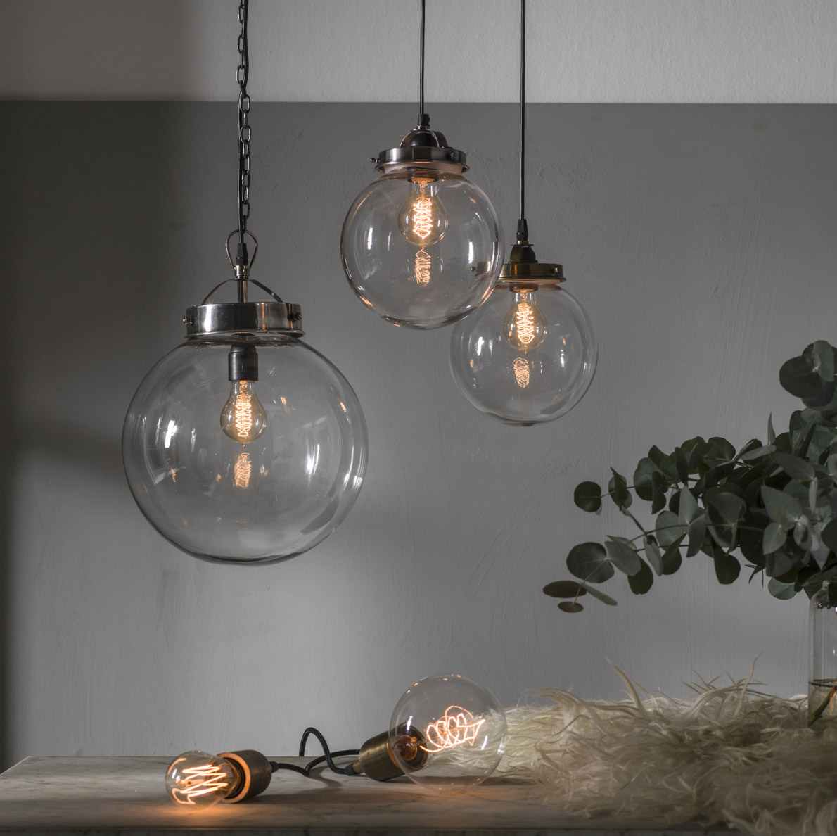 Bretagne taklampa - glaslampa , glasglob PR Home