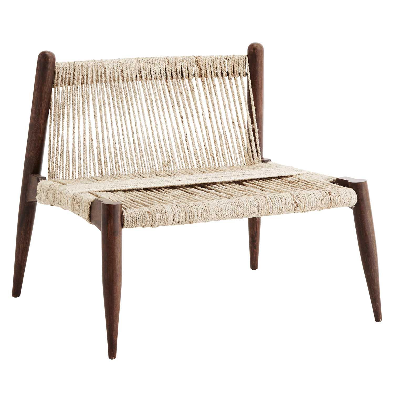Wrap chair, fåtölj i trä& jute Madam Stoltz