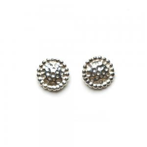STUD EARRINGS HAMMERED SILVER