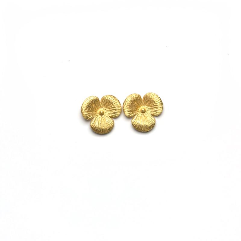 STUD EARRINGS FLOWER GOLD