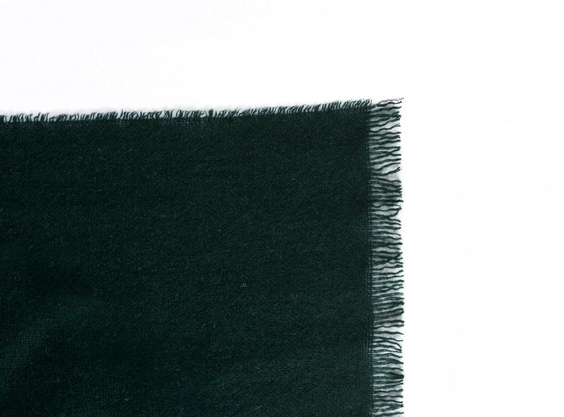 CASHMERE SCARF DARK GREEN