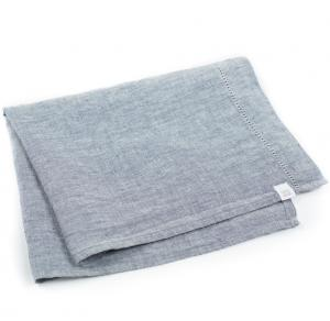 LINEN TEA TOWEL NAVY MELANGE