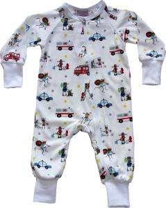 Onesie Emergency Vehicles i OEKO-TEX bomull