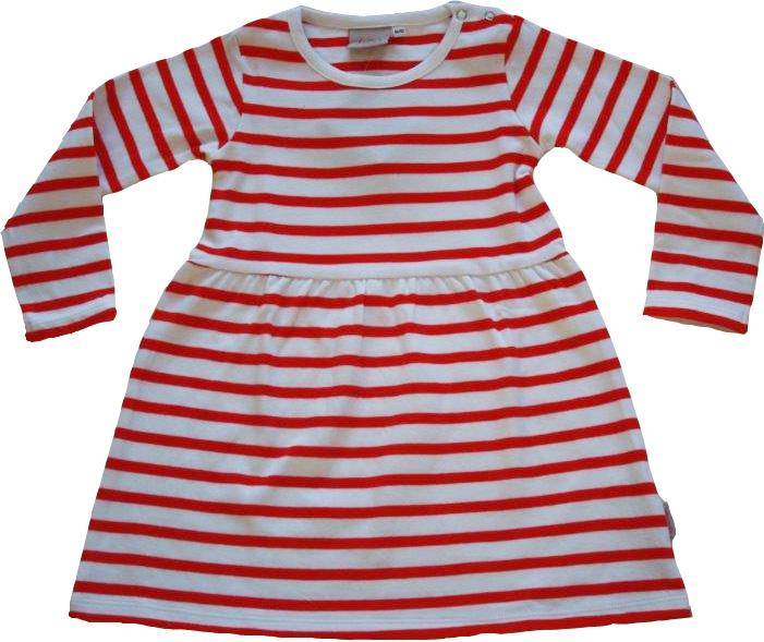 röd vit randig klänning