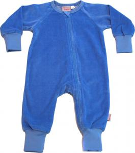 Onesie Skyblue i Velour OEKO-TEX