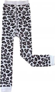 Leopard Svart Leggings i OEKO-TEX