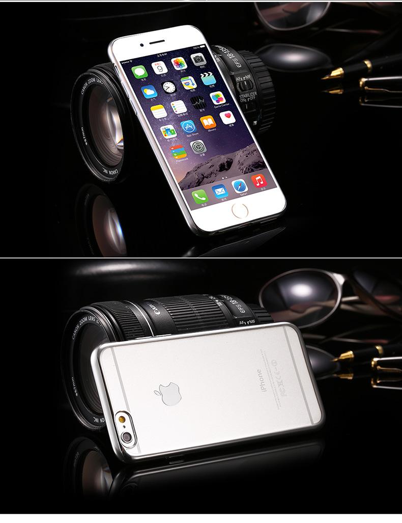 iphone 6 silver med skal