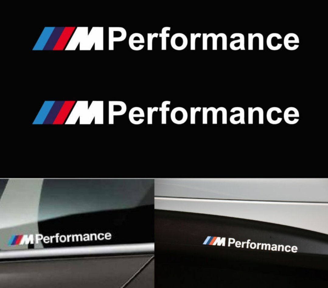 bmw m performance stickers dekal till sidokjolar 2 st. Black Bedroom Furniture Sets. Home Design Ideas