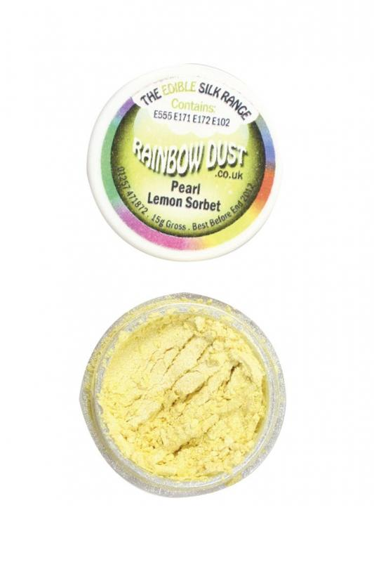 Rainbow Dust Edible Silk Range - Pearl Lemon Sorbet -
