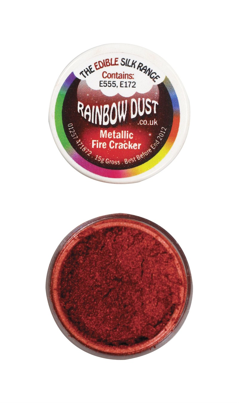 Rainbow Dust Edible Silk Range - Metallic Fire Cracker 5g