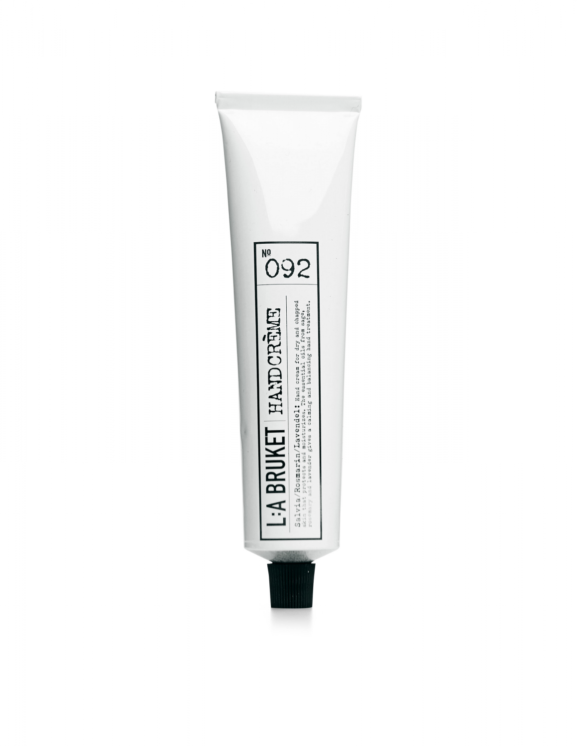 Hand cream in a white packaging with scents of sage, rosemary and lavender, containing 70 ml.