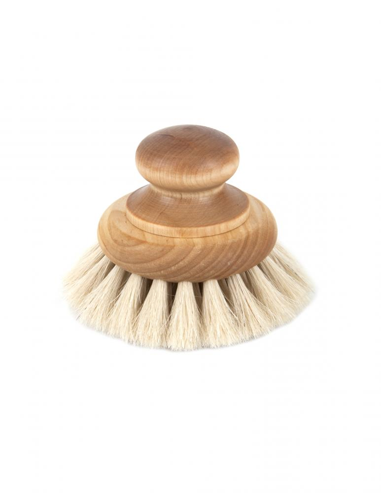 Bath Brush With Knob Maple & Tagel