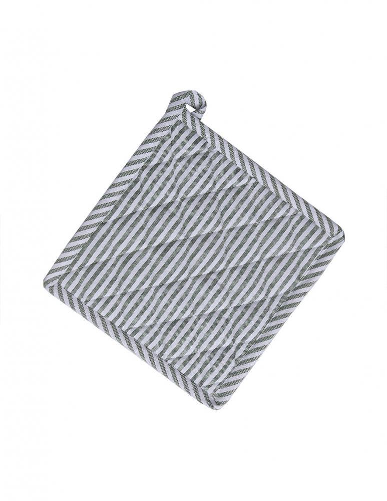 Potholder Recycled Green/White Striped