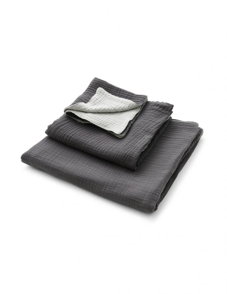 Muslin Towels Dark Grey/Light Grey
