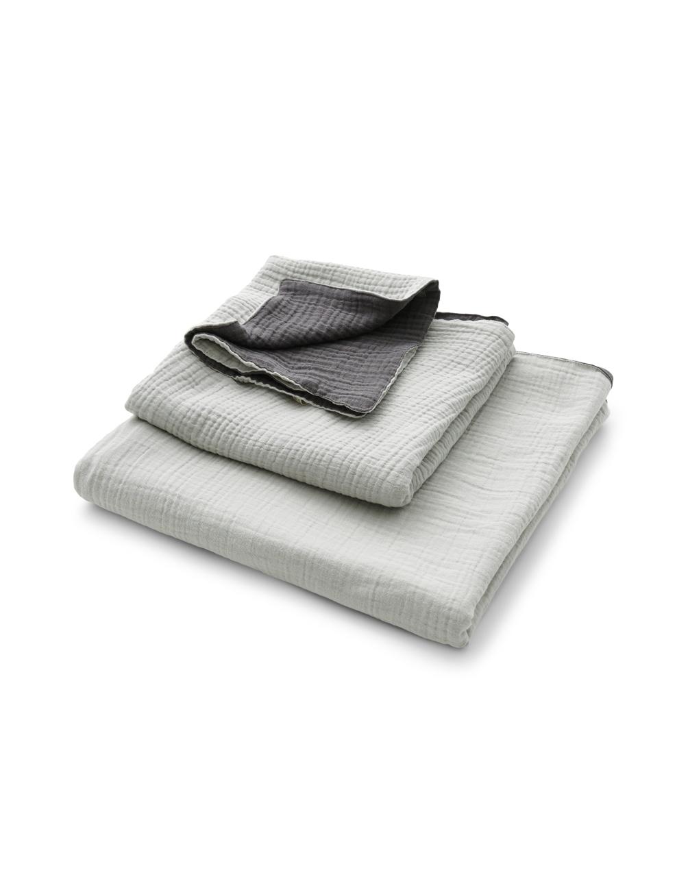 Muslin Handduk Light Grey/Dark Grey