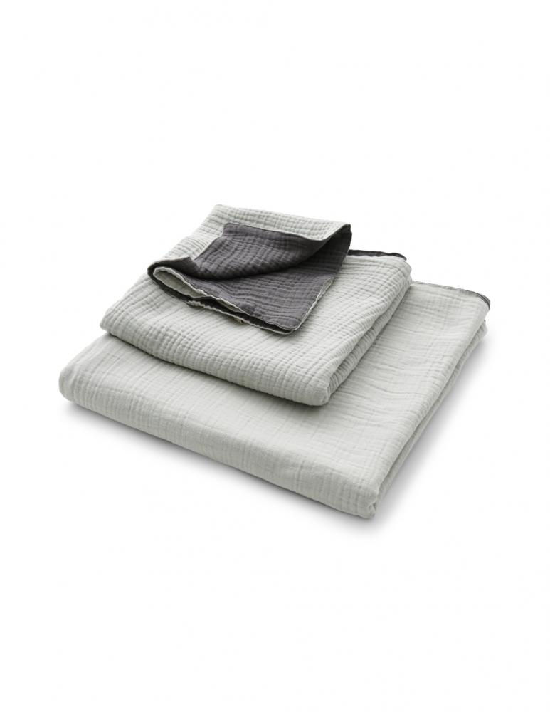 Muslin Towels Light Grey/Dark Grey