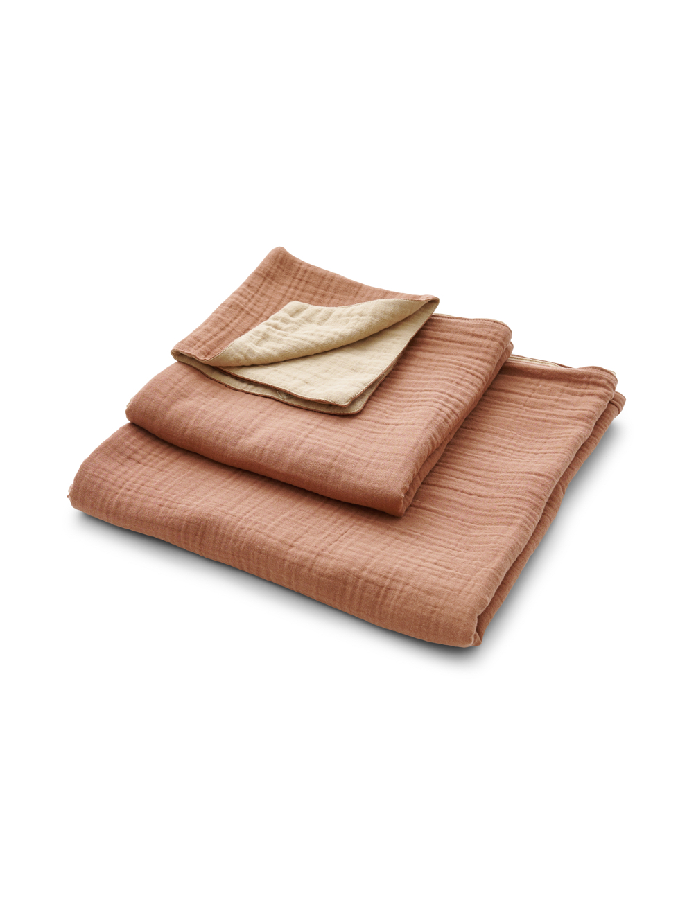 Muslin Towels Terracotta/Peach Pink