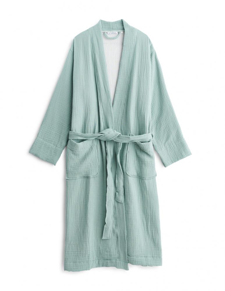 Muslin Bathrobe Minreal Green