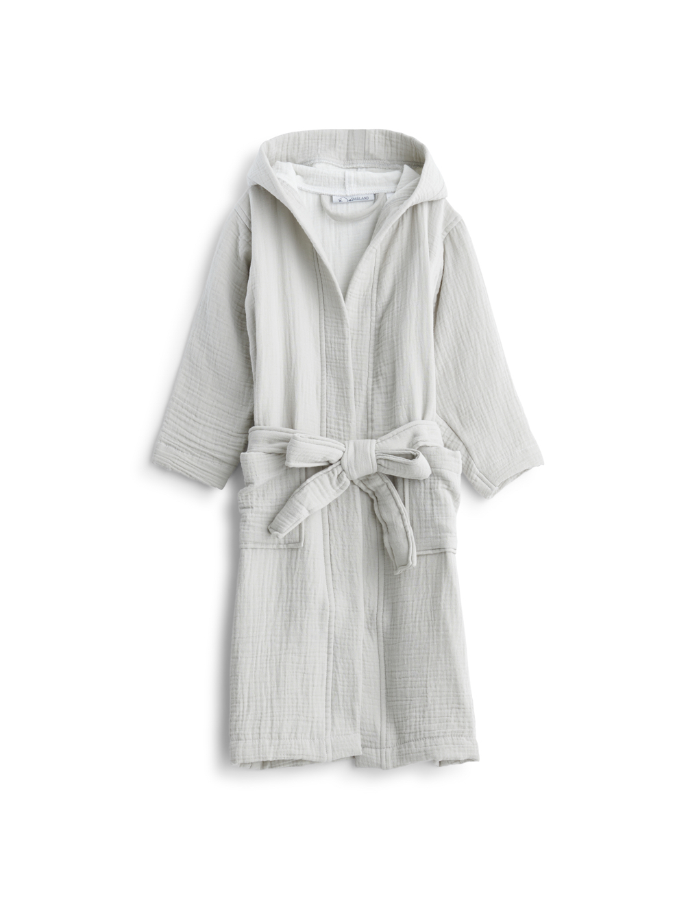 Kids Muslin Bathrobe Light Grey
