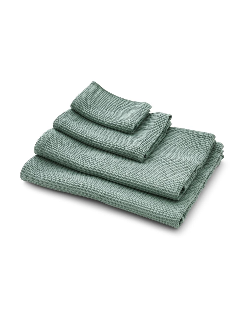 Waffle Towel Mineral Green