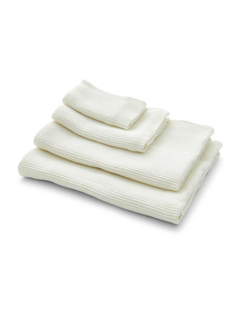 Våfflad Handduk Crispy White