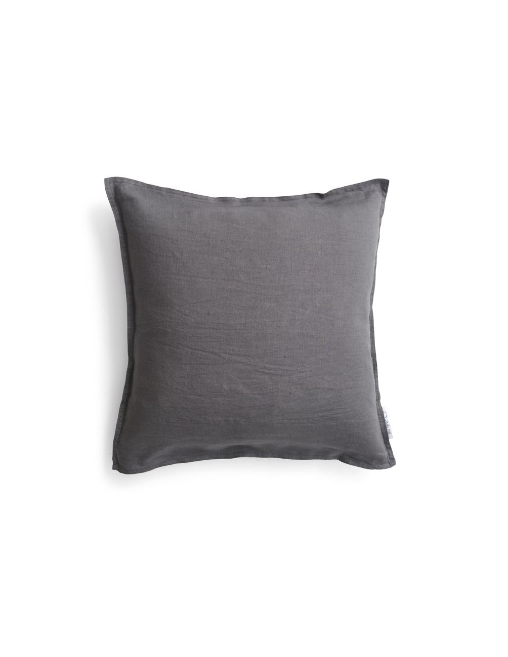 Cushion Cover Linen Dark Grey