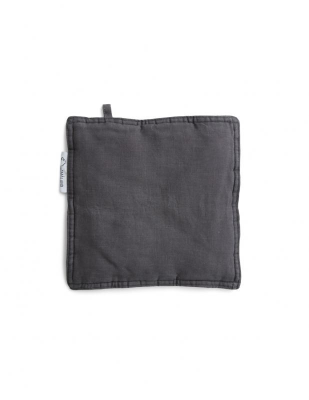 Linen Potholders Dark Grey