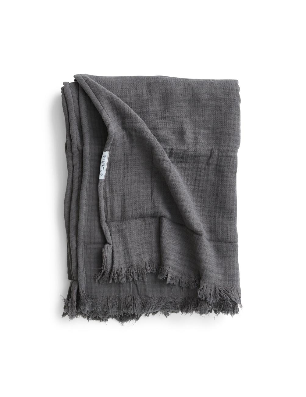 Bedspread Muslin Dark Grey