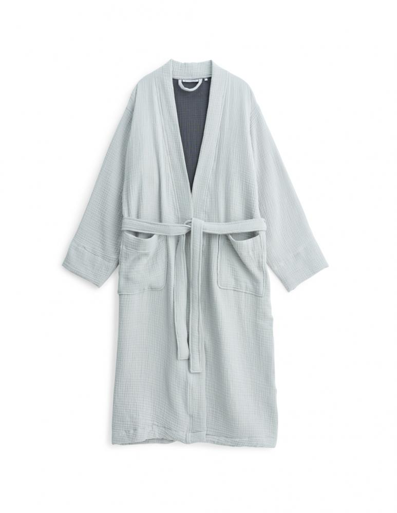 Muslin Bathrobe Light Grey