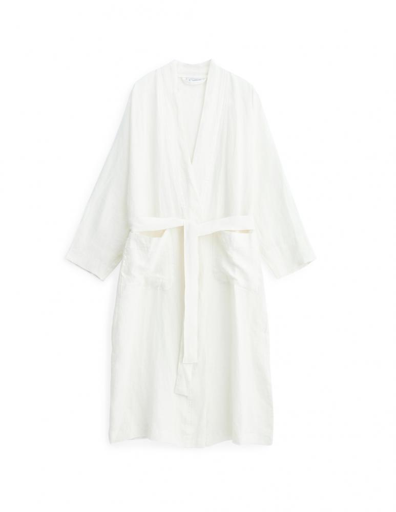 Linen Bathrobe Optical White