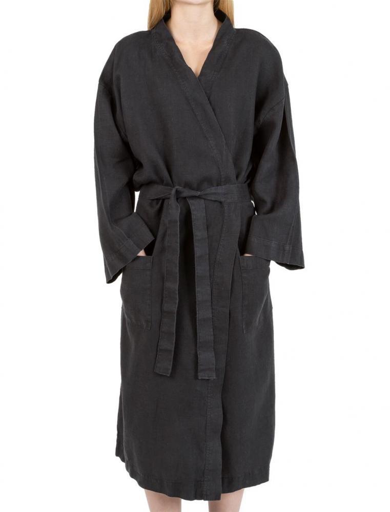 Linen Kimono Black