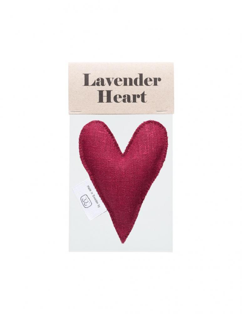 Lavendelhjärta Burgundy
