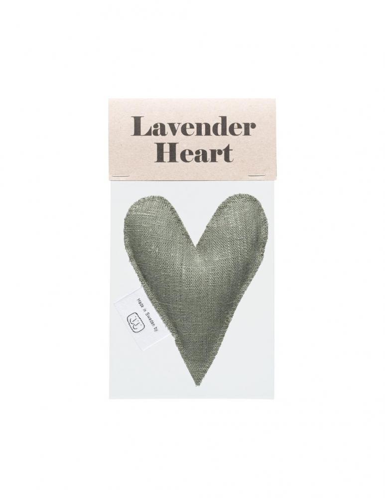 Lavendelhjärta Olivgrön