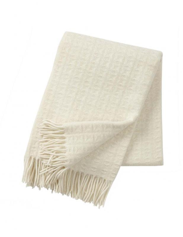 Twist Nature White Blanket/Throw