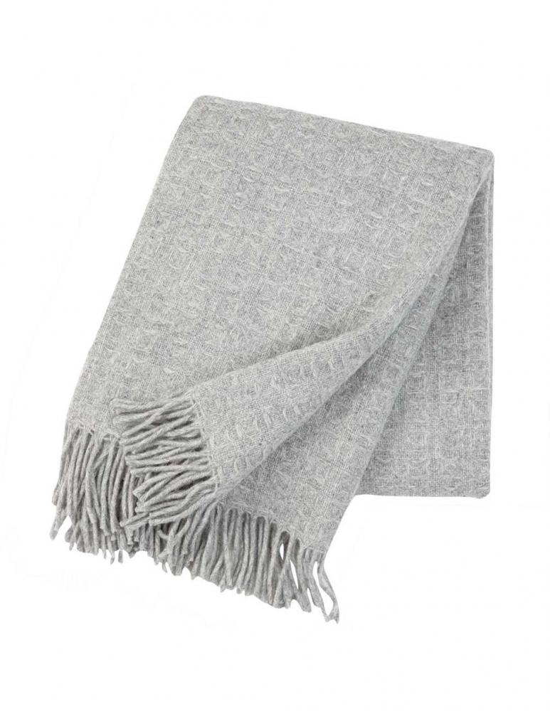 Twist Light Grey Blanket/Throw