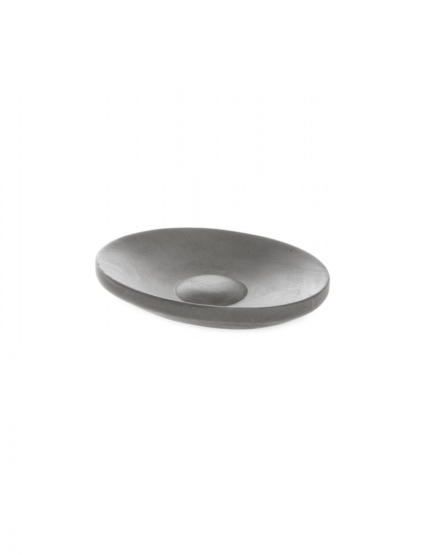 Tvålkopp Oval Grå