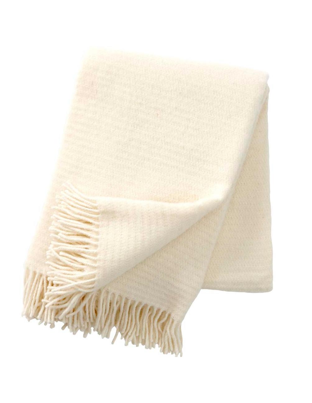 Ralph Ivory Blanket/Throw