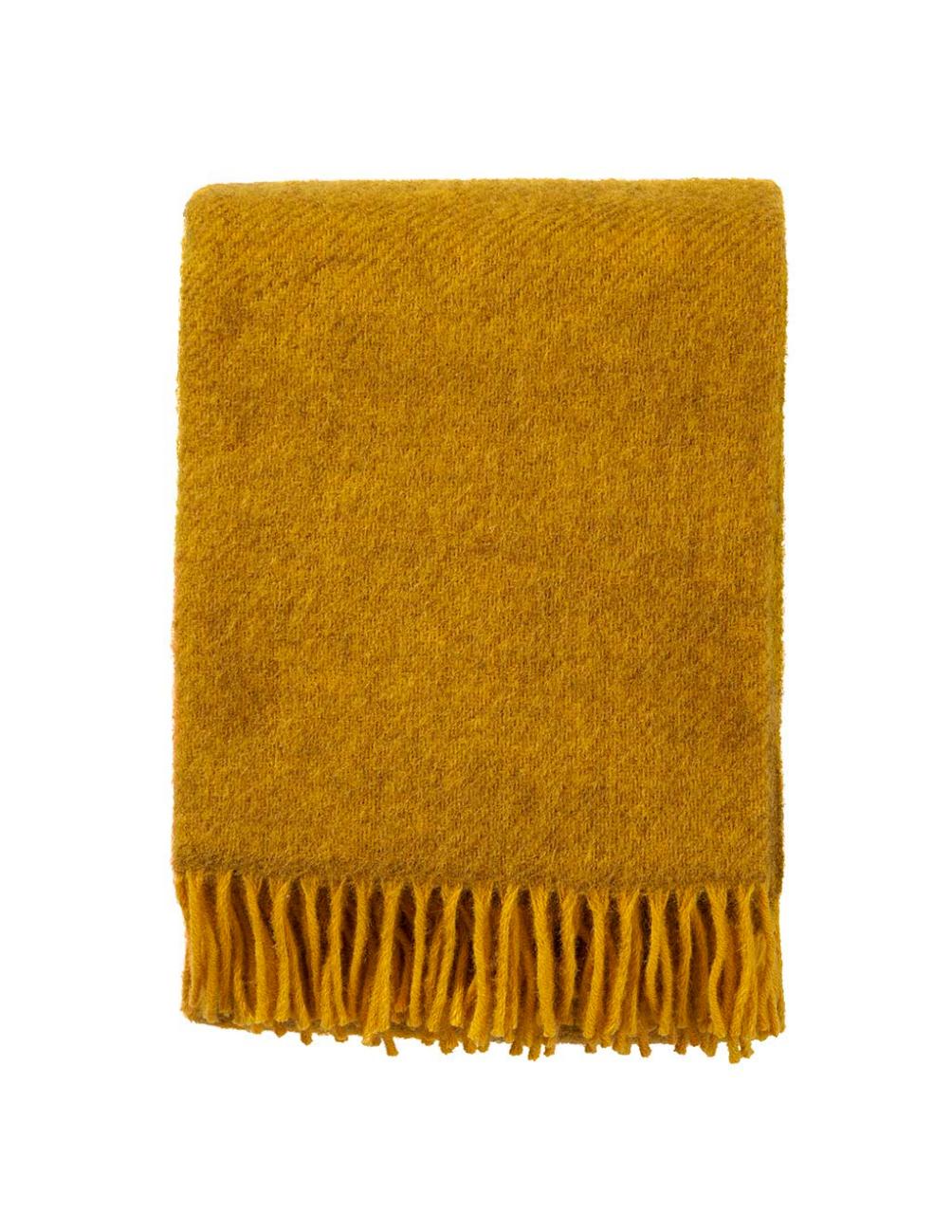 Gotland Yellow Wool Blanket