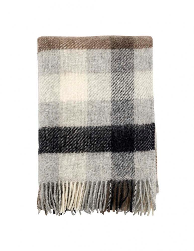 Gotland Multi Grey Wool Blanket