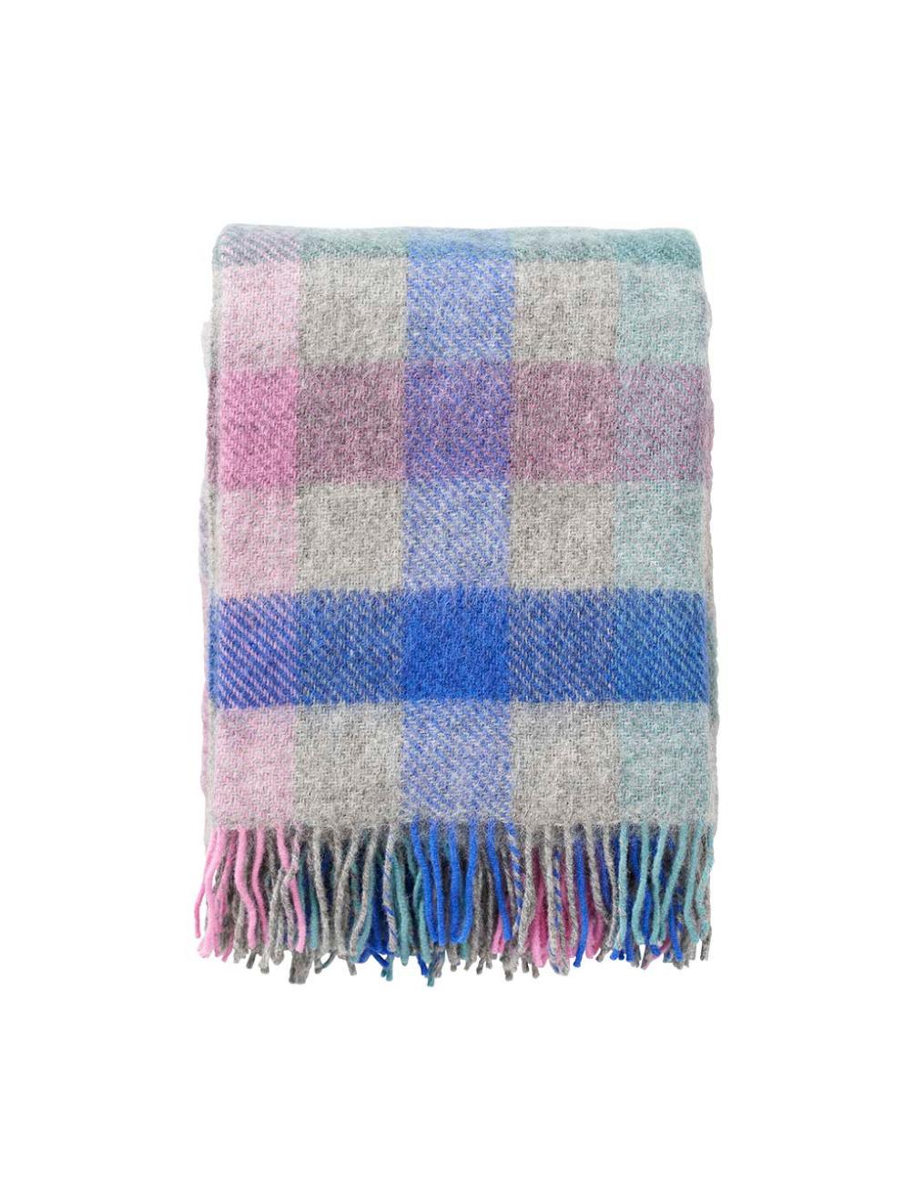 Gotland Multi Pastel Wool Blanket