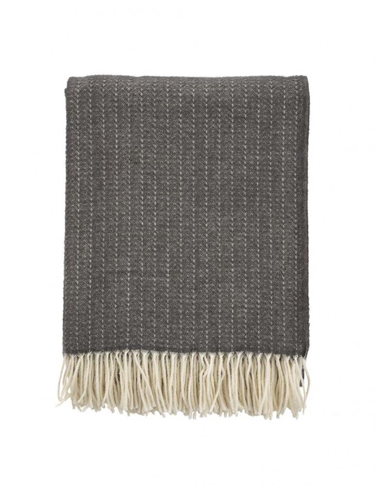 Pin Stripe Dark Grey Blanket/Throw