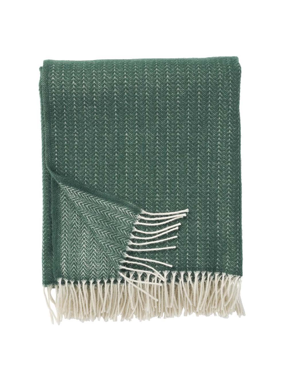 Pin Stripe Dark Green Filt/ullpläd