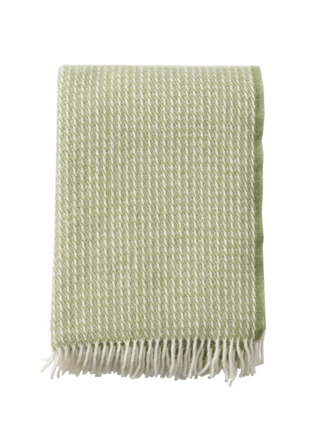Line Green Blanket/Throw