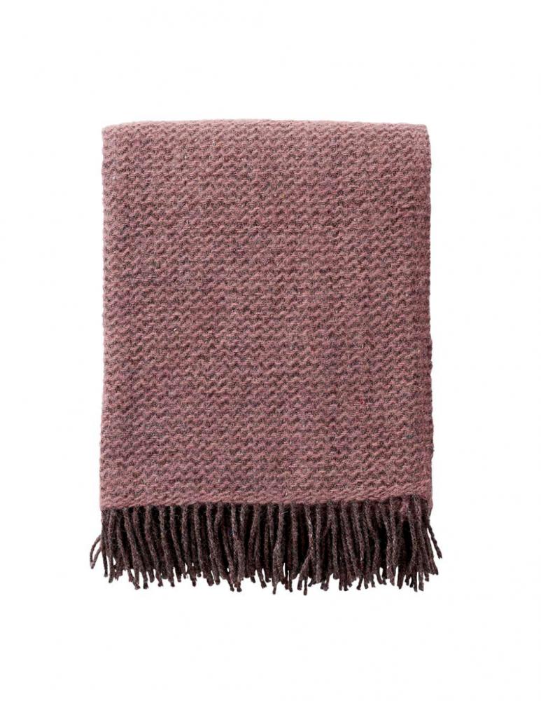 Wave Rose Cloud Wool Blanket