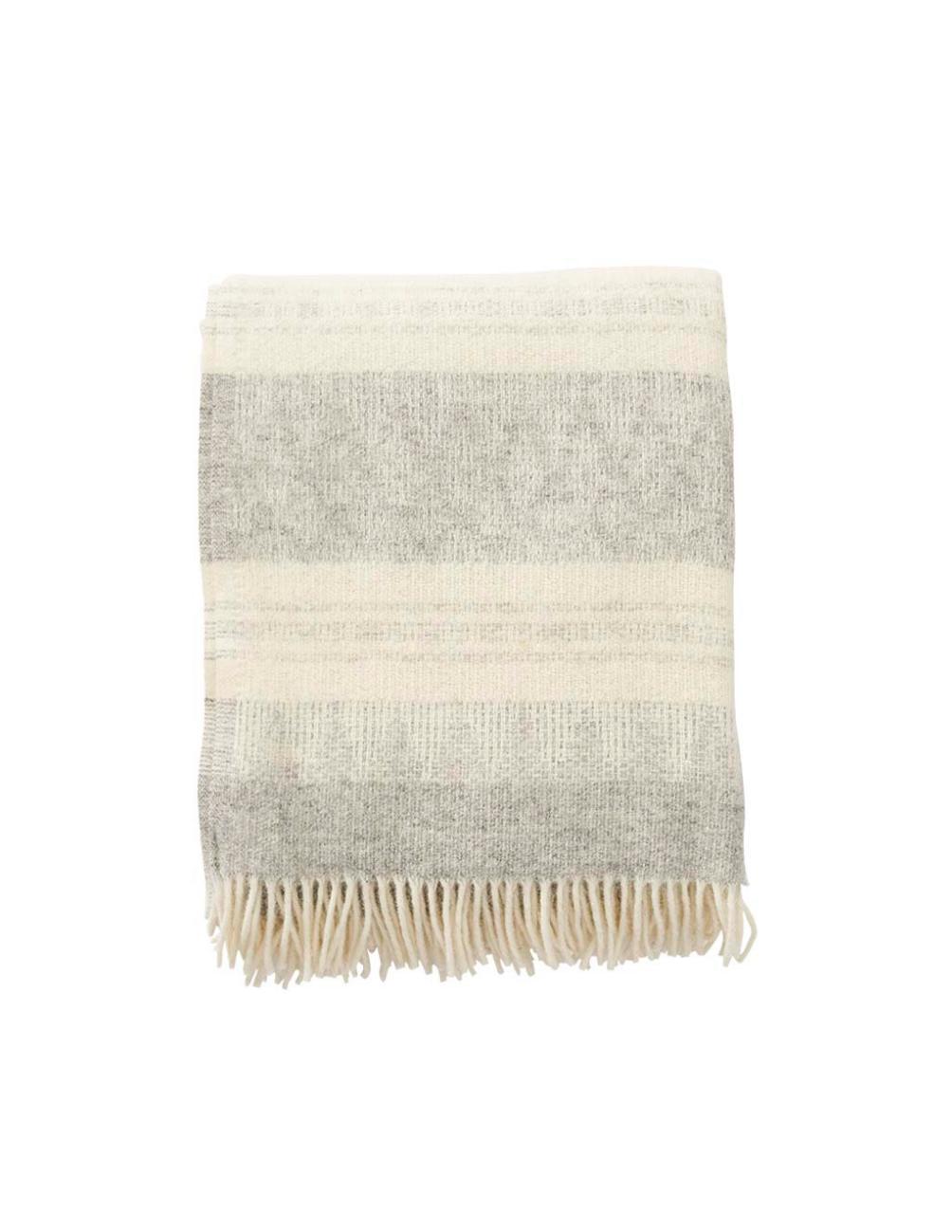 Freja Grey Wool Blanket