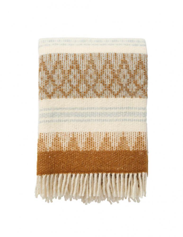 Freja Amber Wool Blanket