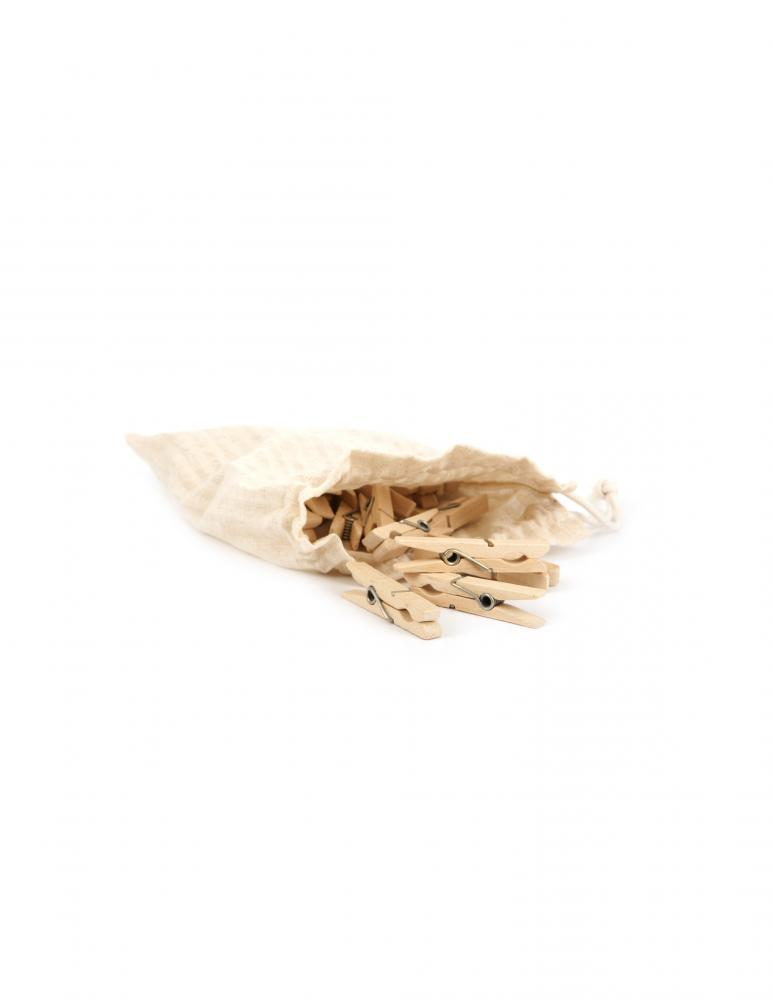 Clothespins in bag