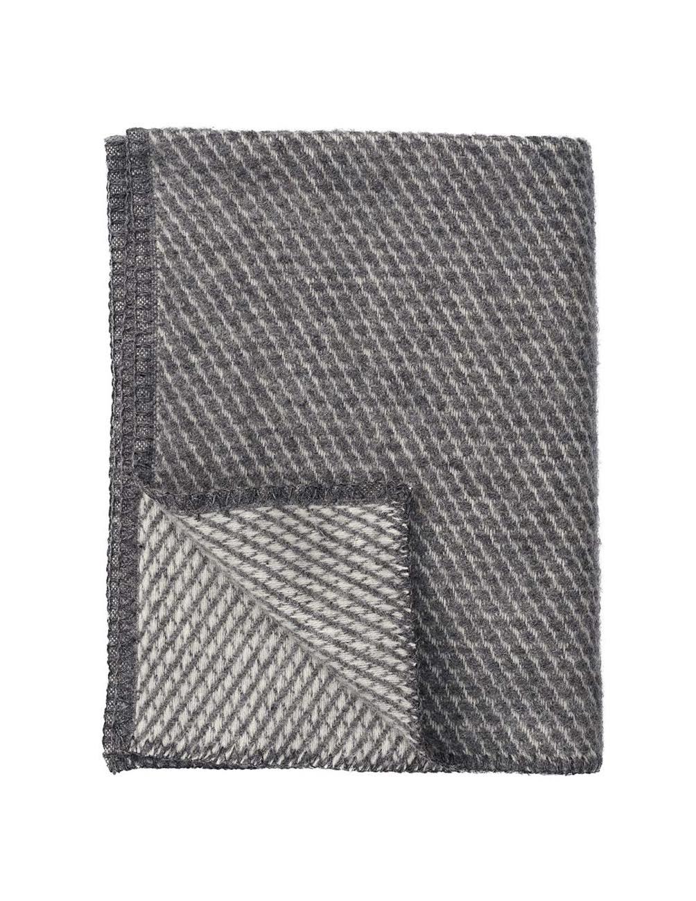 Small Velvet Grey Blanket/Throw