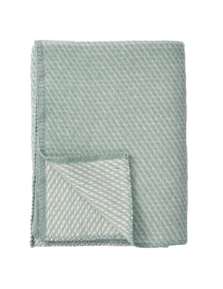 Small Velvet Throw Duck Egg Blue